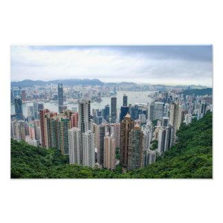 Skyline de Hong Kong Impressão De Foto