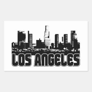 Skyline de Los Angeles Adesivo Retângular