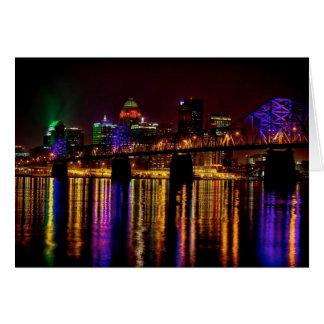 Skyline de Louisville Cartão Comemorativo