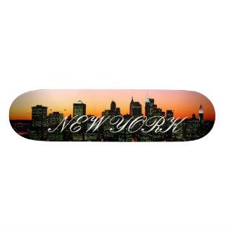 Skyline de Manhattan no crepúsculo, imagem de New  Shape De Skate 20,6cm