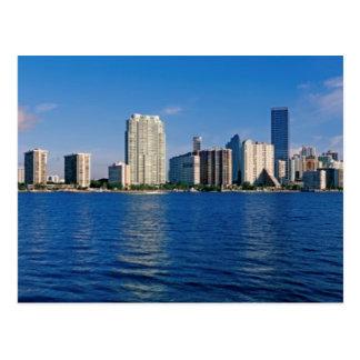 Skyline de Miami, Florida Cartão Postal