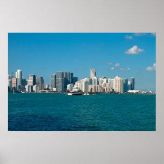 Skyline de Miami Pôster