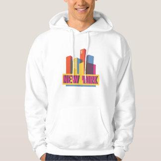 Skyline de néon da Nova Iorque | Moletom