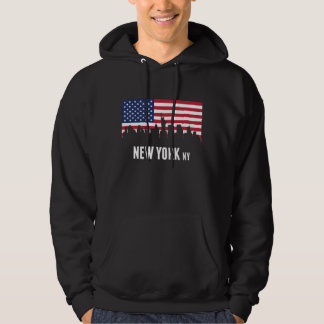 Skyline de New York da bandeira americana Moletom