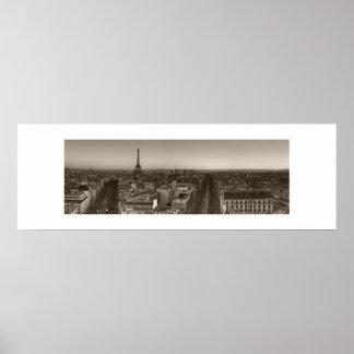 Skyline de Paris Pôster