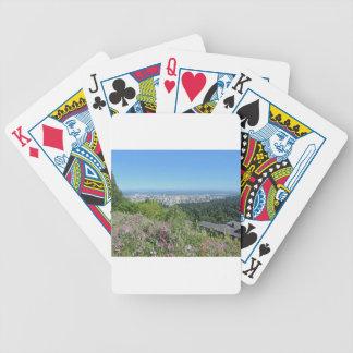 Skyline de Portland com capa da montagem Baralho Para Poker