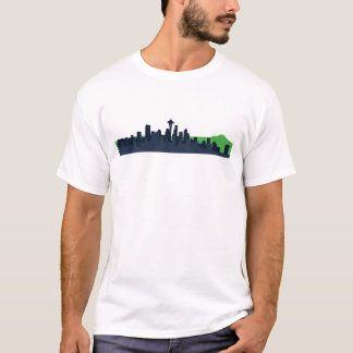 Skyline de Seattle Camiseta