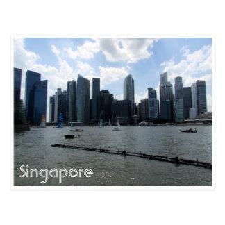 skyline de singapore cartão postal
