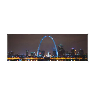 Skyline de St Louis na foto da noite em canvas