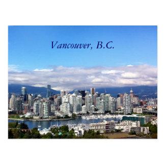 Skyline de Vancôver Cartão Postal