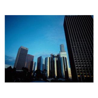 Skyline do centro de Los Angeles, Califórnia, EUA Cartão Postal