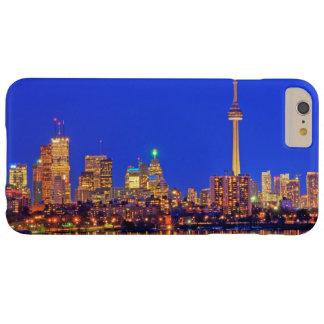 Skyline do centro de Toronto na noite Capa Barely There Para iPhone 6 Plus