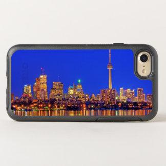 Skyline do centro de Toronto na noite Capa Para iPhone 8/7 OtterBox Symmetry