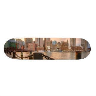 Skyline do distrito financeiro de Boston Shape De Skate 18,1cm