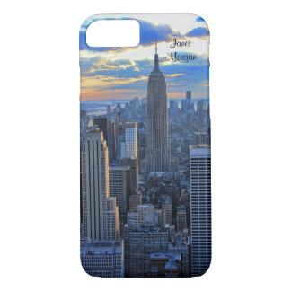 Skyline do fim da tarde NYC como aproximações do Capa iPhone 7