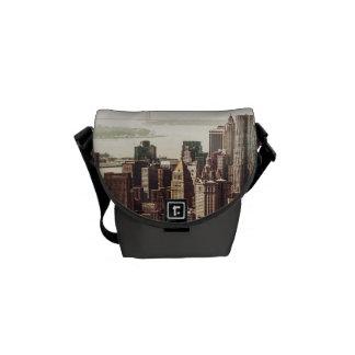 Skyline do Lower Manhattan - vista do Midtown Bolsas Mensageiro