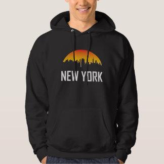 Skyline do por do sol da Nova Iorque Moletom