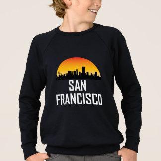 Skyline do por do sol de San Francisco CA Agasalho