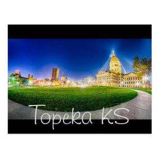 Skyline do Topeka Kansas Cartão Postal