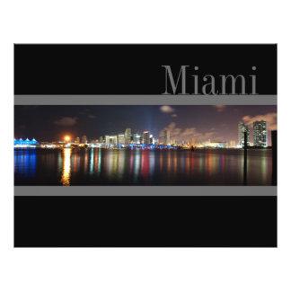 Skyline na noite - insecto de Miami Panfleto Personalizado