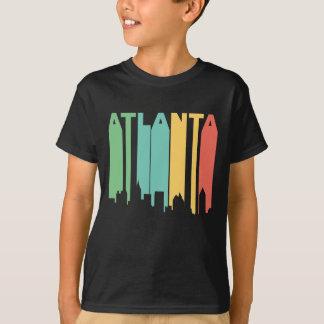 Skyline retro de Atlanta Geórgia do estilo dos Camiseta