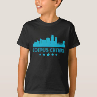Skyline retro de Corpus Christi Camiseta