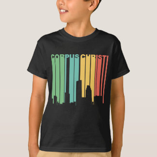 Skyline retro de Corpus Christi Texas do estilo Camiseta