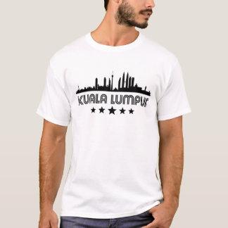 Skyline retro de Kuala Lumpur Camiseta