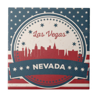 Skyline retro de Las Vegas