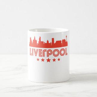 Skyline retro de Liverpool Caneca De Café