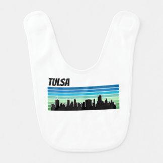 Skyline retro de Tulsa Babador De Bebe