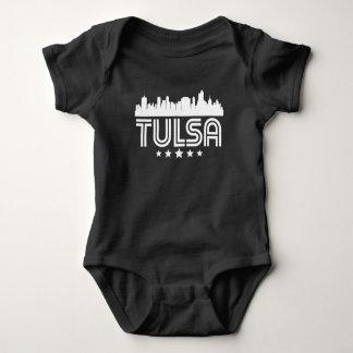 Skyline retro de Tulsa Body Para Bebê