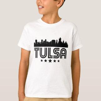 Skyline retro de Tulsa Camiseta
