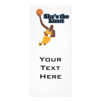skys o design do vetor do basquetebol do limite 10.16 x 22.86cm panfleto