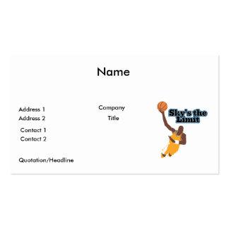 skys o design do vetor do basquetebol do limite modelo de cartões de visita