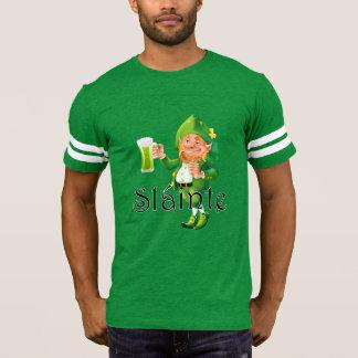 Slainte expressão irlandesa e Leprechaun Camiseta