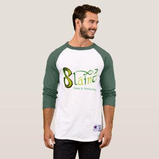 Slainte para a Homem-Campeão-Luva-Raglan-T-Camisa Camiseta