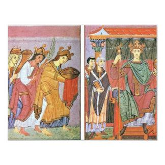 Slavinia Gallia e homenagem do pagamento de Convite 10.79 X 13.97cm