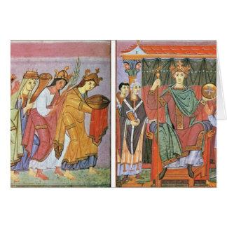 Slavinia Gallia e homenagem do pagamento de German Cartão