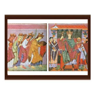 Slavinia Gallia e homenagem do pagamento de German Cartões Postais