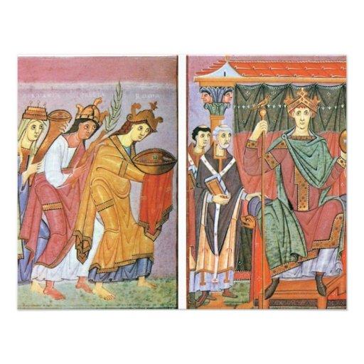 Slavinia Gallia e homenagem do pagamento de German Convites