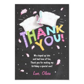 Sleepover dos cartões de agradecimentos dos convite 12.7 x 17.78cm