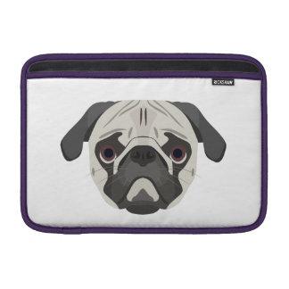 Sleeve De MacBook A ilustração persegue o Pug da cara
