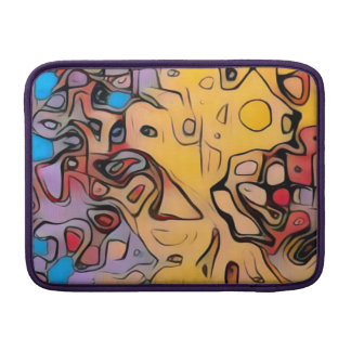 Sleeve De MacBook Abstrato Funky do amarelo