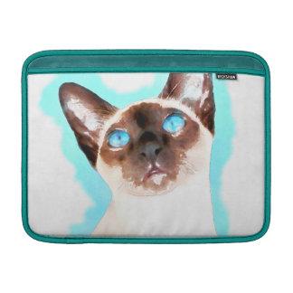 Sleeve De MacBook Arte da aguarela do gato Siamese