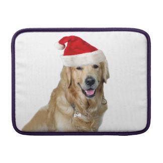 Sleeve De MacBook Cão-animal de estimação do cão-papai noel de claus