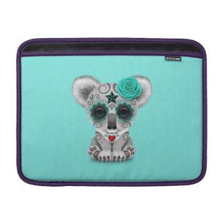 Sleeve De MacBook Dia azul do Koala inoperante do bebê