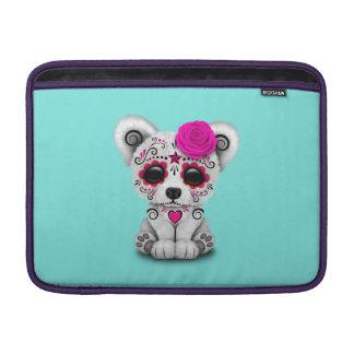 Sleeve De MacBook Dia cor-de-rosa do urso polar do bebê inoperante