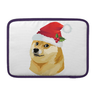Sleeve De MacBook Doge do Natal - doge do papai noel - cão do Natal