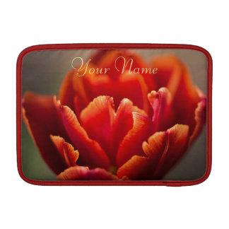 Sleeve De MacBook Foto vermelha bonito das pétalas da tulipa.